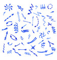 set of blue watercolor arrows vector image vector image