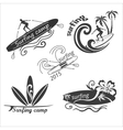 set vintage surf labels vector image vector image