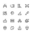 simple icon set computer games contains such vector image vector image