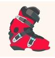 Snowboard boot vector image