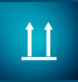 this side up icon isolated on blue background vector image vector image