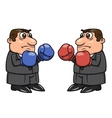 Two businessmen with boxing gloves 2 vector image