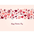 valentines day heart seamless background vector image vector image