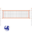 Volleyball net and ball vector image vector image