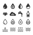 water icon sets vector image
