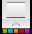 white board empty space vector image