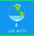world water vector image vector image