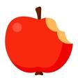 Bitten apple vector image