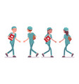 male and female nurse walking vector image