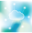 Cloud technology background vector image