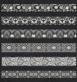 Decorative seamless ornamental borders vector image