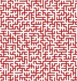 maze pattern vector image