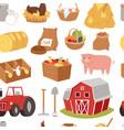 farm tools and symbols house traktor vector image