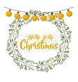 merry christmas wreath decoration vector image