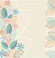 stylized flowers and leaves for greeting cards vector image