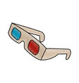 3d glasses to see movie in the cinema vector image vector image