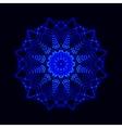 Abstract cosmic star snowflake vector image vector image