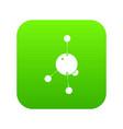 acetone icon green vector image vector image