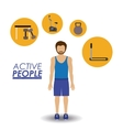 Active People design vector image vector image