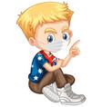american character wearing mask vector image vector image
