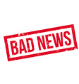 Bad News rubber stamp vector image vector image