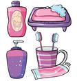 Bathware vector image vector image