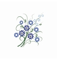 Beautiful isolated blue flowers vector image vector image