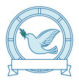 bird of peace emblem vector image vector image