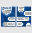 blue brochure for advertising posts texture vector image vector image