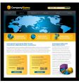 business web site vector image vector image
