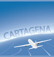 cartagena skyline flight destination vector image vector image