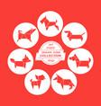 cartoon dogs icon set vector image vector image