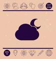 cloud moon symbol icon vector image
