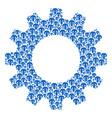 cog mosaic of champignon mushroom icons vector image vector image