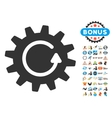 Cogwheel Rotation Icon With 2017 Year Bonus vector image vector image