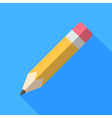 Colorful pencil icon in modern flat style with vector image vector image