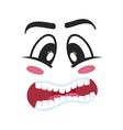 consternation emoji emoticon or smiley face vector image vector image