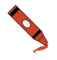 crayon school supply isolated icon vector image