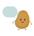 cute happy smiling funny potato with vector image