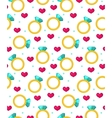Cute seamless pattern Valentines day with jewel vector image vector image