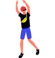 dancing teenager icon vector image