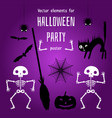 design elements for creation a halloween poster vector image