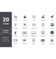 design ui and ux set icons collection includes vector image vector image