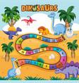 dino path board game vector image vector image
