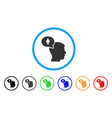 ethereum thinking man rounded icon vector image vector image