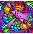 Exotic colorful butterfly vector image vector image