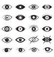 eye signs black thin line icon set vector image vector image