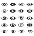eye signs black thin line icon set vector image