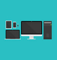 gadget technology collection with flat style vector image vector image