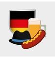 german oktoberfest cartoon vector image